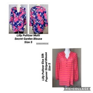 2 Lilly Pulitzer Blouses Size S